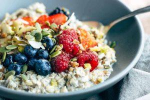 Petit-déjeuner Crossfit aliments muesli